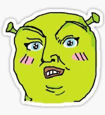 Shrek Meme - shrek meme drawing stickers redbubble