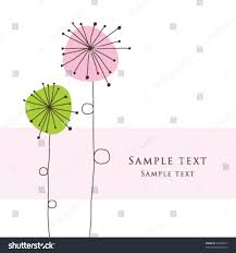 greeting card template simple artistic stock vector
