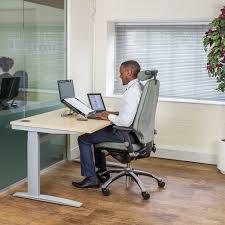 Electric Adjustable Height Desk by Deskrite 300 Sit Stand Cockpit Desk From Posturite