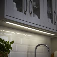 kitchen cabinet lighting b q colours upha silver effect mains powered led cabinet