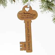 new home ornament personalized key ornament