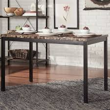 marble and metal dining table darcy faux marble black metal 48 inch dining table by inspire q bold