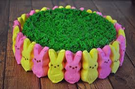 Easter Cake Decorating Ideas With Peeps peeps easter cake