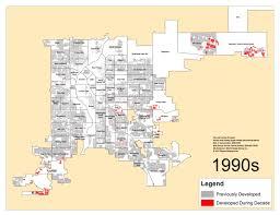 Denver Maps Denver U0027s Single Family Homes By Decade 1990s U2013 Denverurbanism Blog
