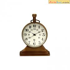 desk clock 2 inch size antique look table clock made from brass desk clock