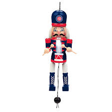 chicago cubs pull string wooden nutcracker ornament mlbshop