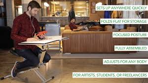 all in one desk and chair the edge all in one desk solution for modern life and work by edge