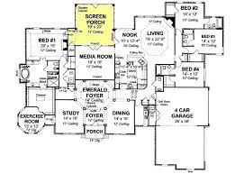 4 bedroom 1 story house plans floorplan onestory luxury style house plans 4121 square foot
