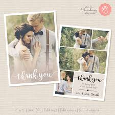 thank you card template thank you printable photography