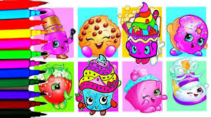 shopkins coloring book pages new rainbow color learn colors