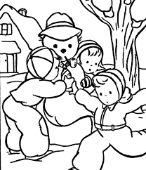 making snowman coloring pages to print winter coloring pages of