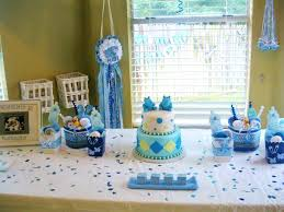 baby shower centerpieces for a boy baby shower decorations owl theme boy newsdir