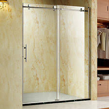 frameless sliding shower door ebay