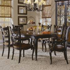 hooker furniture preston ridge round leg table and oval back