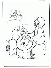 picture coloring daniel lions den coloring pages