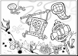 wonderful spongebob coloring pages printable with sponge bob