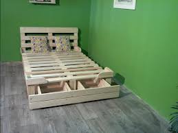 Plans For A Platform Bed With Drawers by Pallet Platform Bed With Storage 99 Pallets