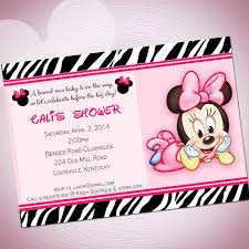 baby minnie mouse baby shower cimvitation