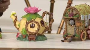 hallmark indoor outdoor fairy garden house on qvc youtube