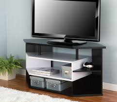 Modern Corner Tv Stands For Flat Screens Furniture Of America Rixton Black And White 47 Inch Contemporary
