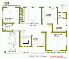 front view of double story building elevation for floor house two