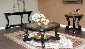 glass end table set round glass end tables