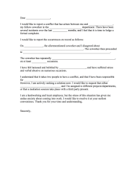 Formal Complaint Letter Against An Employee complaint letter against coworker png
