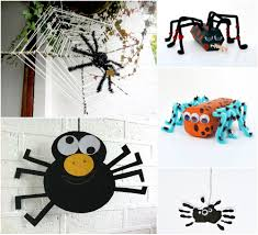 round up of spider crafts for halloween mollymoo spider