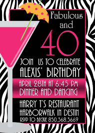 free printable 40th birthday invitations cards best free