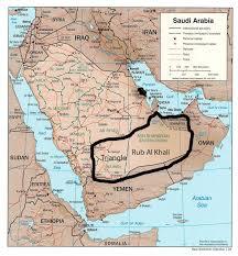 rub al khali map rub al khali