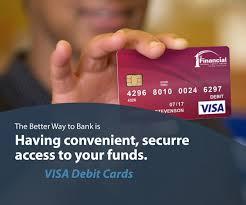 debt cards visa debit card 1st financial federal credit union