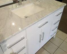48 Inch Solid Wood Bathroom Vanity by Virtu Usa Tiffany 48 Inch Single Sink White Vanity With Carrara