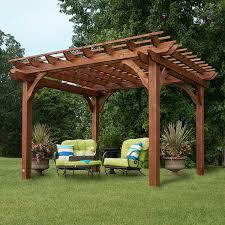 amazon com backyard discovery cedar pergola 12 u0027 by 10 u0027 garden
