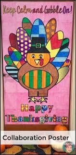 turkey collaborative classroom door decoration great thanksgiving