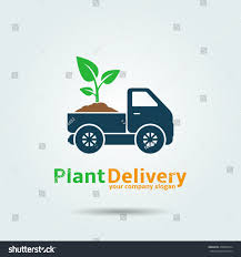 Plant Delivery Plant Delivery Logo Template Design Vector Stock Vector 478982074