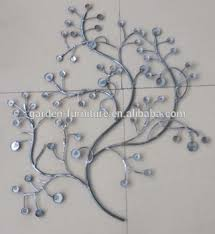 Metal Tree Wall Decor Jeweled Look Handmade Decoration Crafts Gift Home Wall Decor Metal