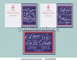 wedding quotes nautical set nautical marine banners labels stock vector 428359825
