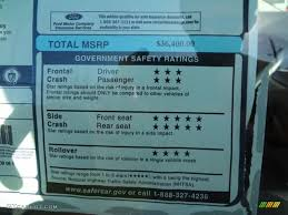Ford Edge Safety Rating 2012 Ford Edge Sel Ecoboost Window Sticker Photo 58786963