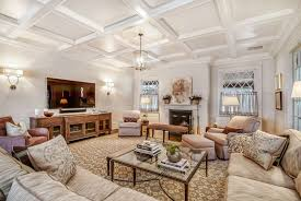 Large Family Room With Coffered Ceiling Installing A Coffered - Large family room design