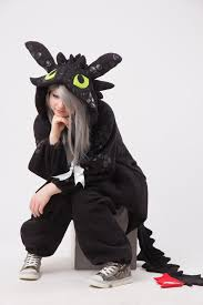 toothless train dragon kigurumi stuff
