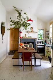 Kitchen L Shaped Dining Table Furniture Natural Boho Kitchen With Brown Wood Dining Table Feat
