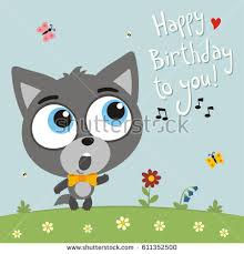 happy birthday singing cards happy birthday you goat sings stock vector 612194171