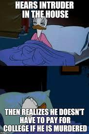 Donald Duck Meme - sleepy donald duck in bed imgflip