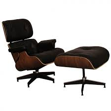 Eames Style Rar Molded Black Eames Style Lounge Chair And Ottoman Walnut U0026 Black Leather