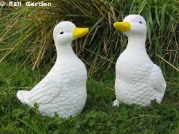 pair of ducks duck ornament duck garden ornament