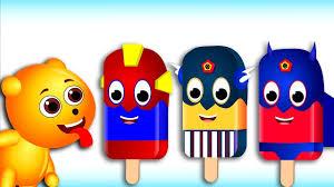 video for kids youtube kidsfuntv gummy bear baby crying fun superhero ice cream lollipop finger