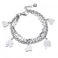 stainless steel charm bracelet images Silver finish stainless steel charm bracelet jpg