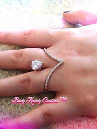 double knuckle rings images Jewels floating ring pierced finger ring double knuckle open jpg