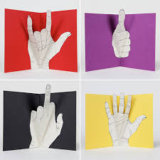 diy idea gesture pop up greeting cards diy and craft