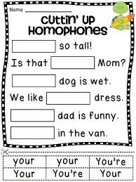 homophones worksheets 26 fun homophone activity sheets cut and